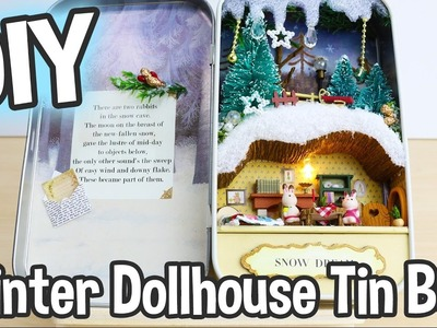 DIY Miniature Dollhouse Kit Box Theatre Snow Dream Cute Winter Scene. Relaxing Crafts