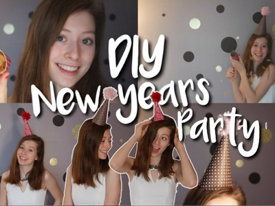 DIY New Years Eve Party 2017! Decor, Party Hats + Confetti Poppers!