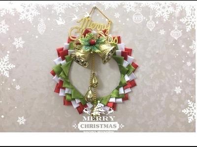 Diy Silk  Christmas Wreath