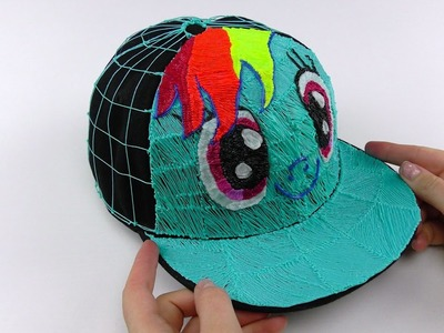 My Little Pony How to Draw 3D Cap with Rainbow Dash using 3D PEN! Video for Kids