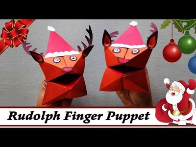 Rudolph The Red Nosed Reindeer Finger Puppet - Easy Christmas Paper Crafts Ideas - DIY Craft For Kid