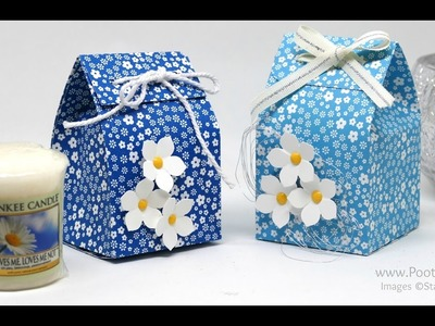 Yankee Candle Fold Over Bag using Stampin' Up! Paper