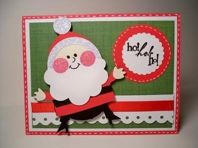 20+ Handmade Santa Claus Card Ideas for Christmas 2016