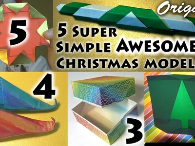 5 Super Simple AWESOME Christmas Models! (no music)