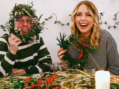 CHRISTMAS DAY WREATH MAKING !!