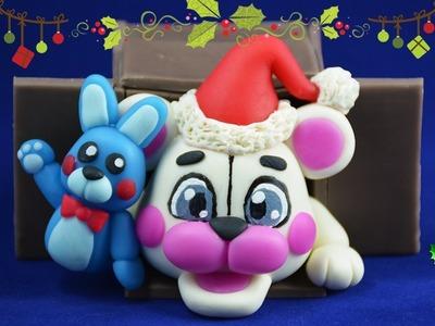 ★ CHRISTMAS FUNTIME FREDDY ★ ✔ Polymer Clay ✔ Cold Porcelain COLLAB ft Moxxka & Plastilina Loca