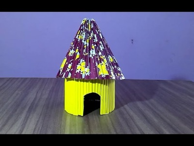 How to make a paper house very easy paper hut