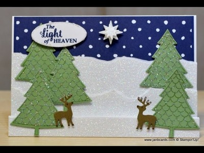 No.236 - Christmas Stepper Card - JanB UK Stampin' Up! Demonstrator Independent