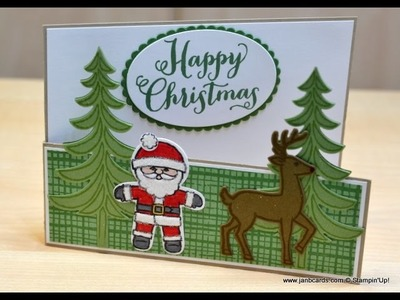 No.238 Stable Door Christmas Card - JanB UK Stampin' Up! Demonstrator Independent