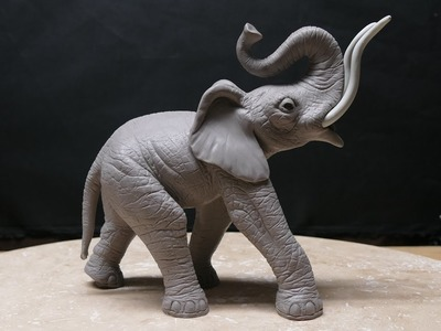 Polymer Clay Texturing (elephant sculpture part 12)
