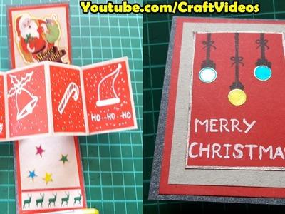 Twist pop up card super easy   Pop up cards for Christmas   Handmade Pop Up Christmas Cards