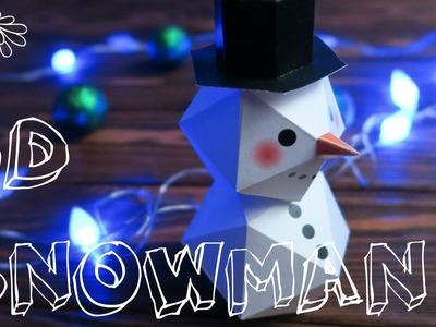 3D Snowman | Mouse DIY