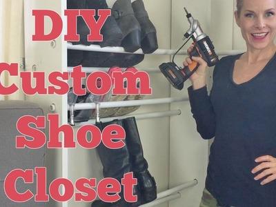 DIY Custom Shoe Closet