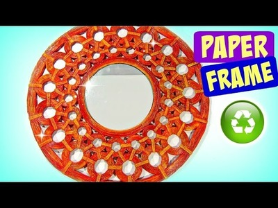 DIY How to make paper frames. Marco de papel.
