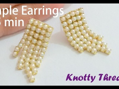| DIY | How to make Simple Earrings in 5 minutes at Home | Tutorial | Knotty Threadz !!