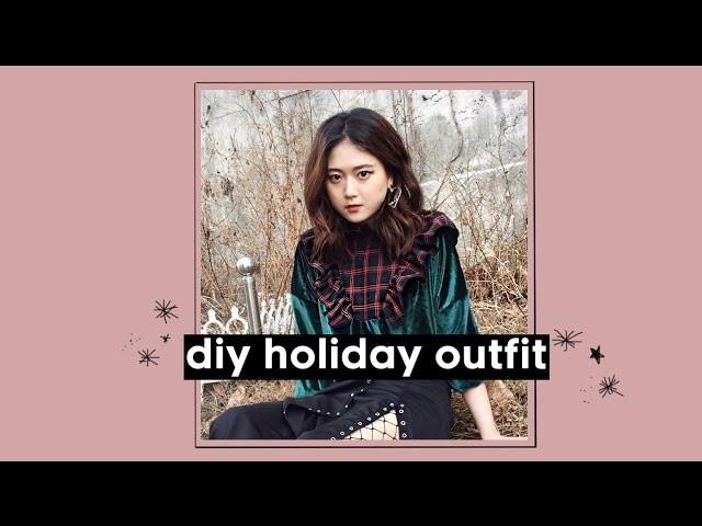 DIY Winter Holiday Velvet Ruffled Top | Q2HAN