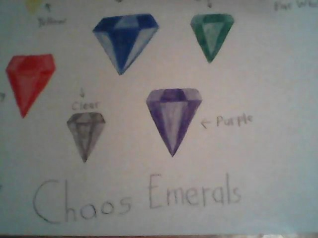 "How to draw a ""7"" Chaos Emeralds"