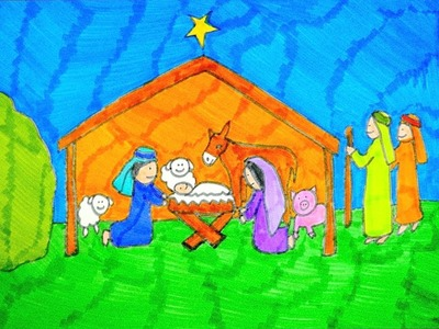How To Draw A Nativity Scene | Christmas Drawings For Kids