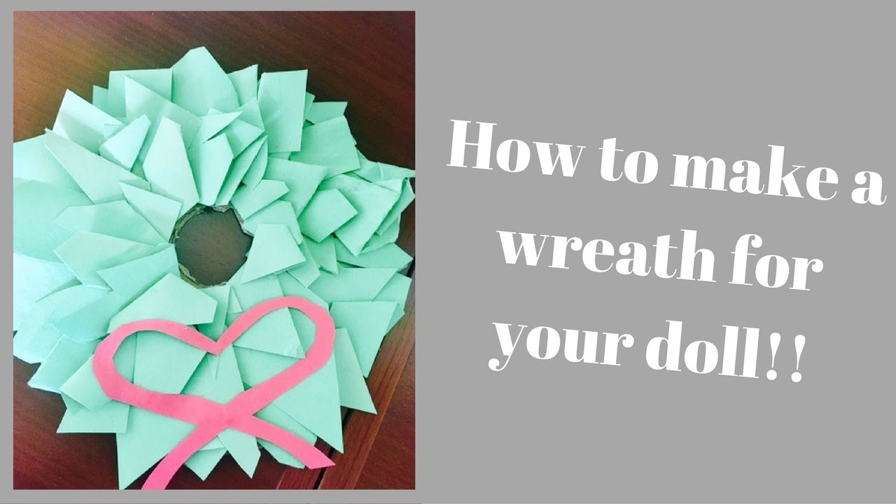 How to make a Doll Wreath! | TwoLoverly.Dolls