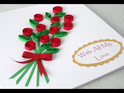 How to make a Quilling Card - Gift Ideas