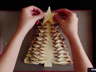How to make Christmas Tree Nutella,Good nutella snacks,Easy nutella snack recipes,Nutella snack idea