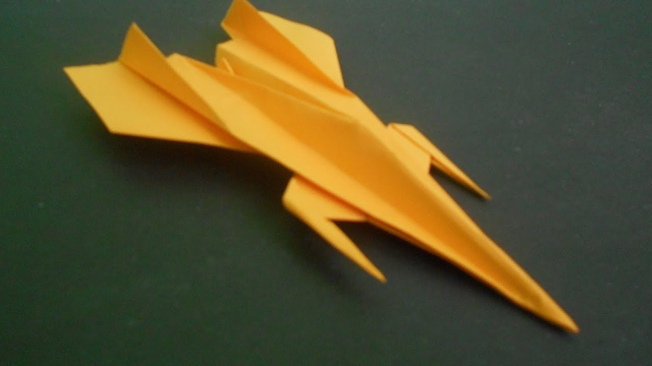 How to make Paper Airplane - Easy Paper Plane Origami Jet Fighter