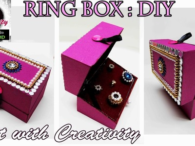 How to make Ring Box | DIY | Art with Creativity 111