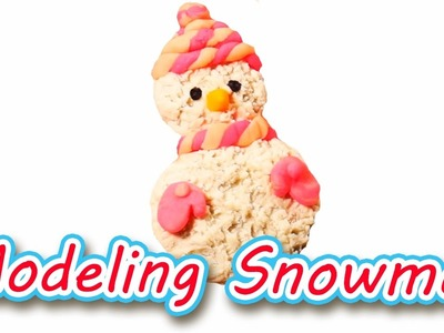How to Make Snowman with Modeling Clay for Kids