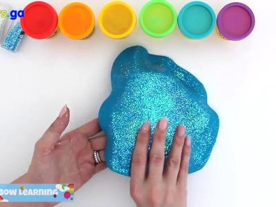 Kids Toys GA - Play Doh Frozen! Make Rainbow Glitter Ice Cream & Elsa Dress with Play Dough Clay *