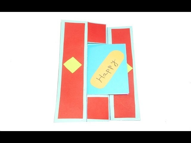 New year Card.  Paper craft for kids. DIY beauty & easy.New year greetings