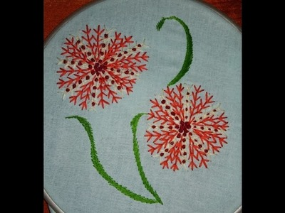Beautiful flower with combination of easy basic stitch
