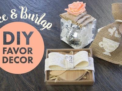 Burlap and Lace Favor Decorations | BalsaCircle.com