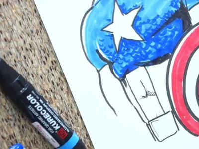 Captain America 20 Minute Sketch Full Color Real Time