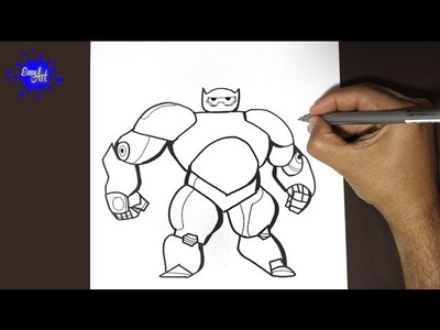 Como dibujar a Baymax | How to draw Baymax- (Big hiro 6)