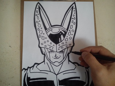 Como dibujar a cell DE DRAGON BALL Z. HOW TO DRAW CELL DRAGON BALL Z. ドラゴンボールZセルを描画する方法