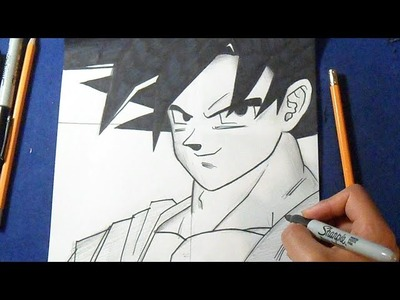 "Cómo dibujar a Goku ""Dragon Ball Z"" 