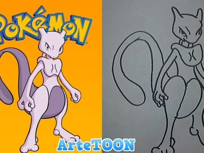 Como dibujar a newtwo | how to draw mewtwo pokemon