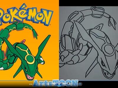 Como dibujar a Rayquaza (Pokemon) - How to Draw Rayquaza- Pokemon