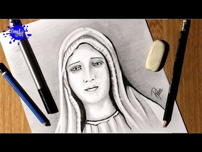 Como Dibujar la virgen Maria - How to Draw the virgin mary