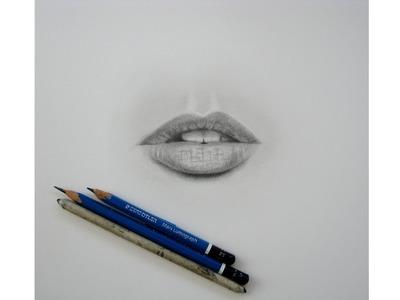 Cómo dibujar labios realistas. How to draw realistic lips