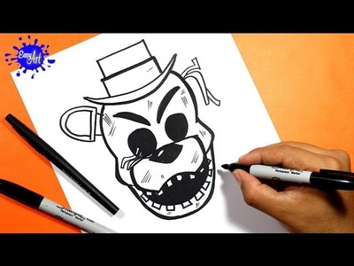 Como dibujar Nights At Freddy's. Como Dibujar a Golden  Five Nights At Freddy's. how to draw FNAF