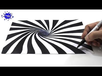 Cómo dibujar una ilusión óptica 3D. How to draw optical illusion