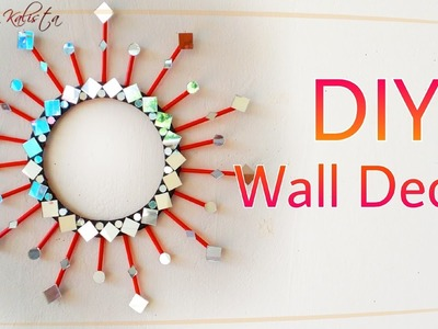 DIY Mirror Wall Decor - DIY decoration ideas for teenagers - DIY home projects - DIY crafts!