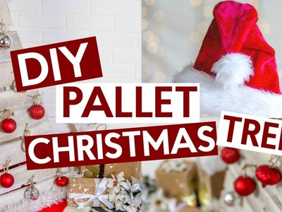 DIY Pallet Tree with Americana Decor Color Stain