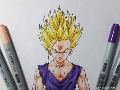 Drawing Gohan Super Saiyan 2 | SSJ2