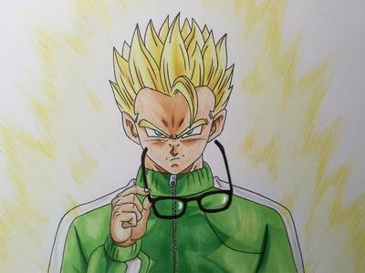 Drawing Gohan Super Saiyan - Resurrection F'
