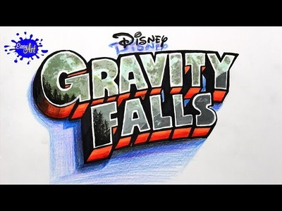 DRAWING GRAVITY FALLS 3D l how to drawgravity falls - como dibujar cartoon