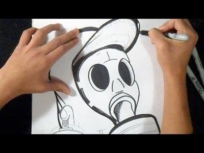 Drawing: Mascara de Gas Graffiti