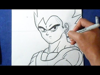 "Fácil - Cómo dibujar a Vegeta ""Dragon Ball Z"" | How to draw Vegeta"