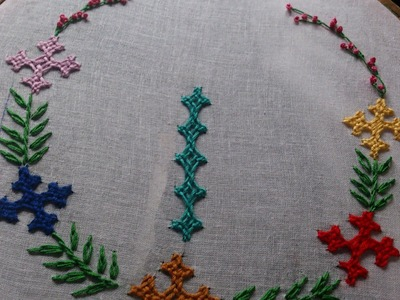 Hand embroidery designs.  kutch work embroidery tutorial, kutch work design on dresses.